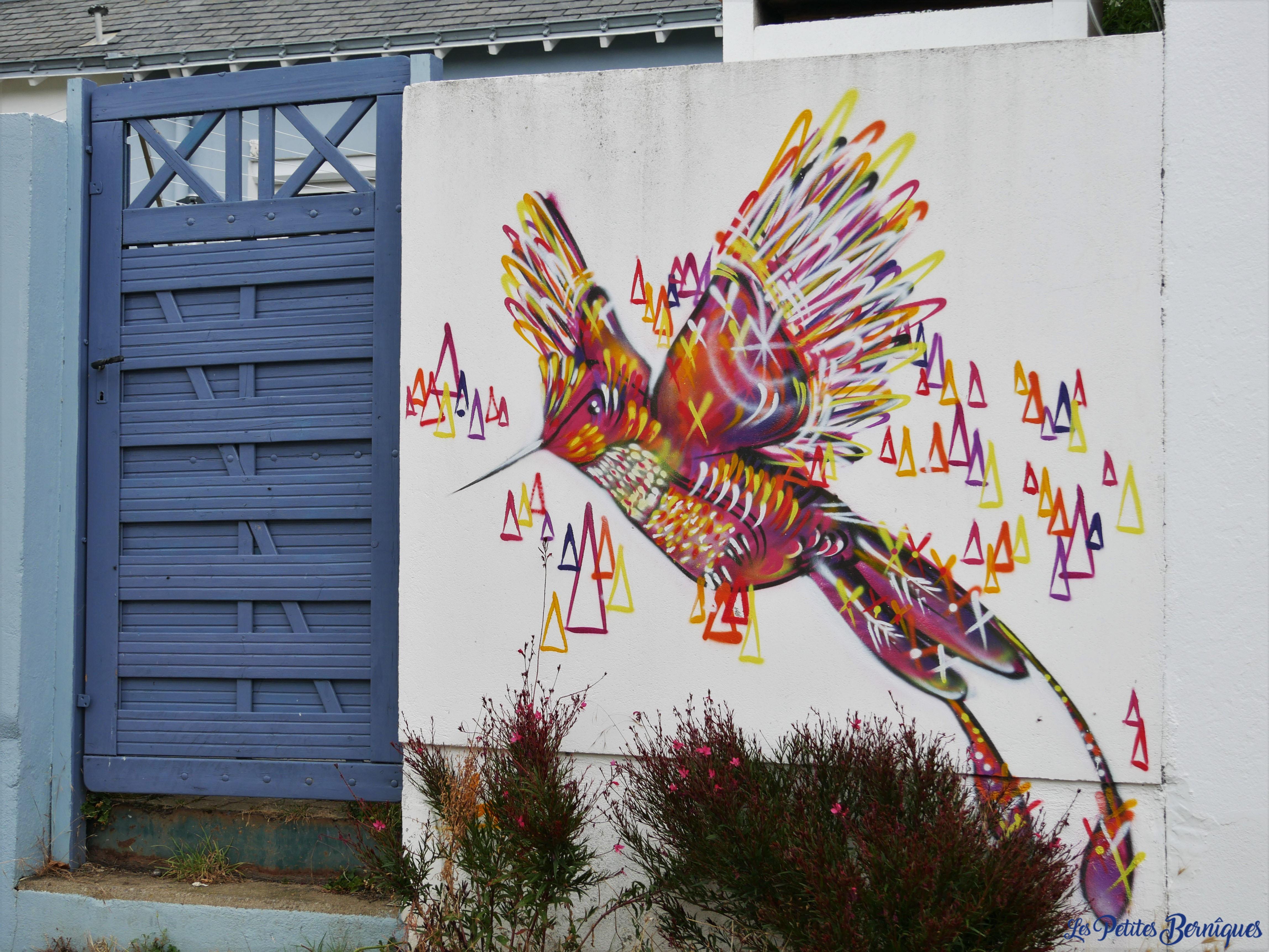 Fresque Les colibris Saint-Naziare
