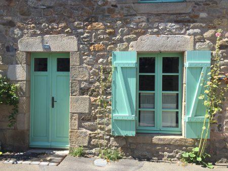 Maisons volets vert