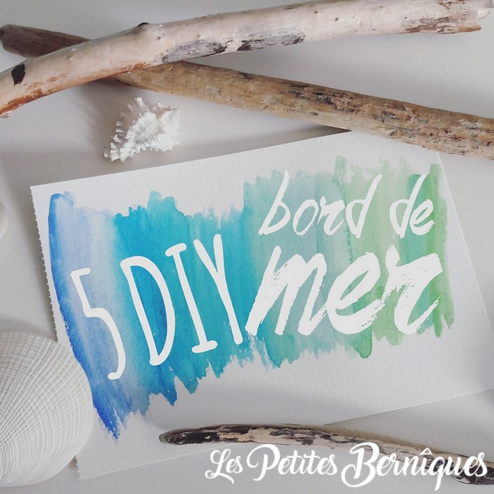 DIY bords de mer - bois flotte - coquillages - galets