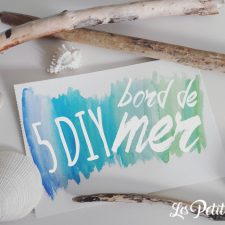 bords de mer DIY - bois flotte - coquillages - galets