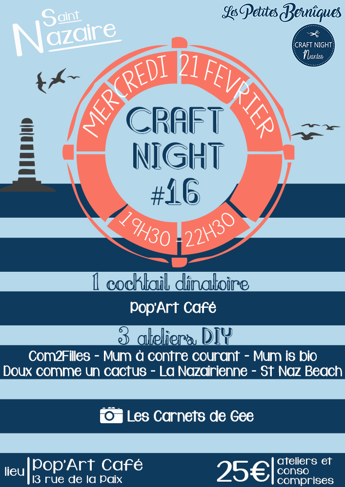 Craft night - Saint-Nazaire - ateliers DIY