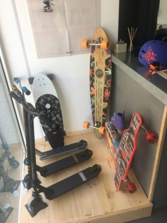 Skates et trottinettes freestyle