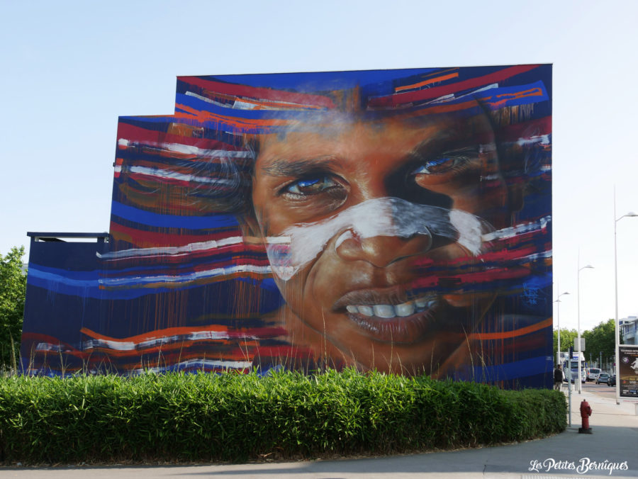Fresque aborigène Matt Adnate Saint-Nazaire