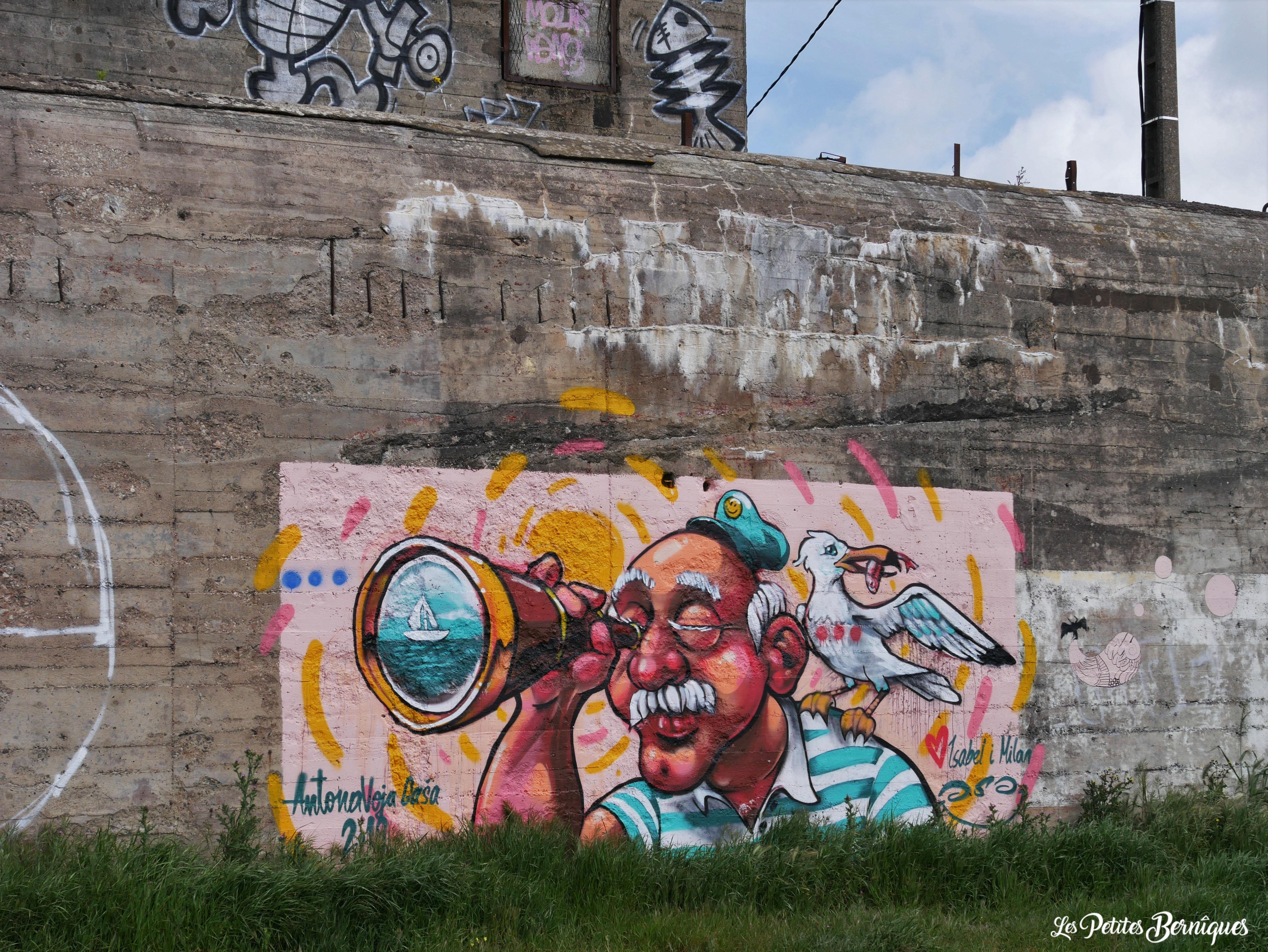 Fresque pecheur longue vue Saint-Nazaire