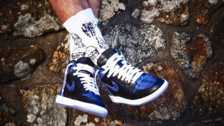 sneakers bleu et noir
