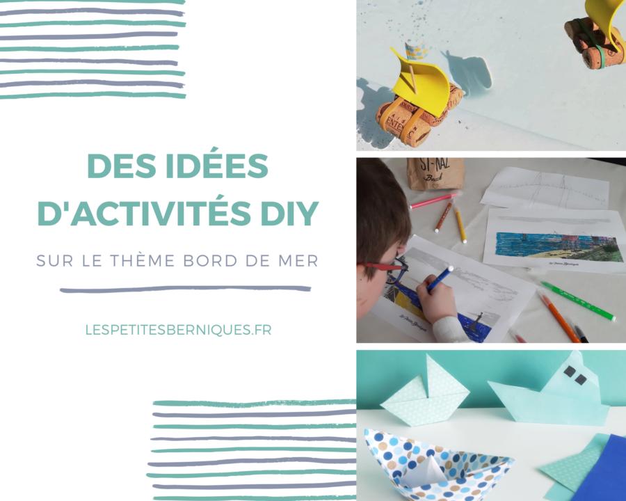 Idées activités enfants - DIY - confinement - bord de mer