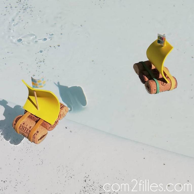 com2filles - bateau radeau bouchon de liege
