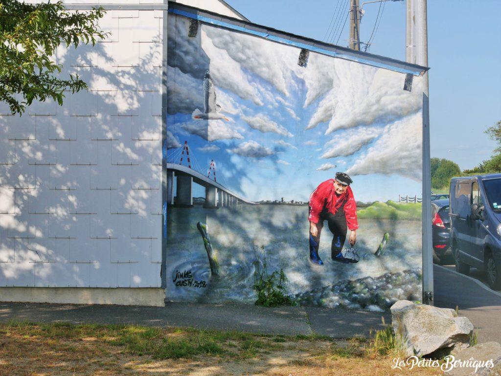 Fresque Jinks Kunst pecheur a pied