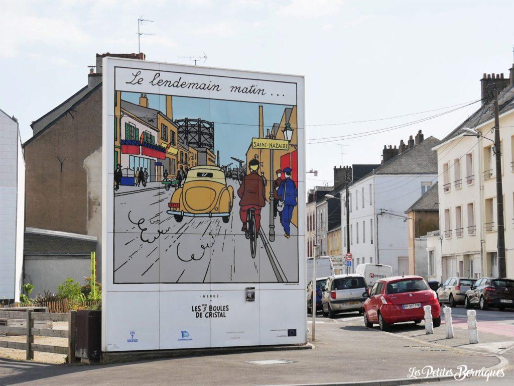 Fresque Tintin Les 7 boules de cristal
